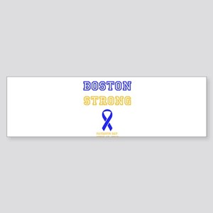 Boston Strong Ribbon Design Bumper Sticker