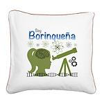 Borinquena Square Canvas Pillow