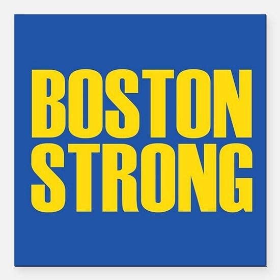"Boston Strong mug Square Car Magnet 3"" x 3"""