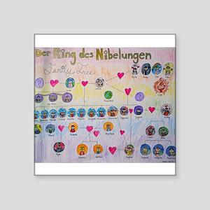 Der Ring des Nibelungen Family Tree Square Sticker