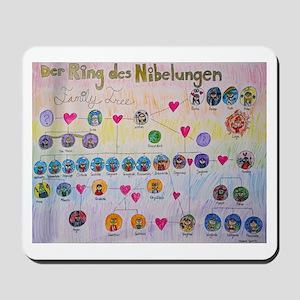 Der Ring des Nibelungen Family Tree Mousepad
