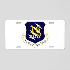 16th AEW Aluminum License Plate