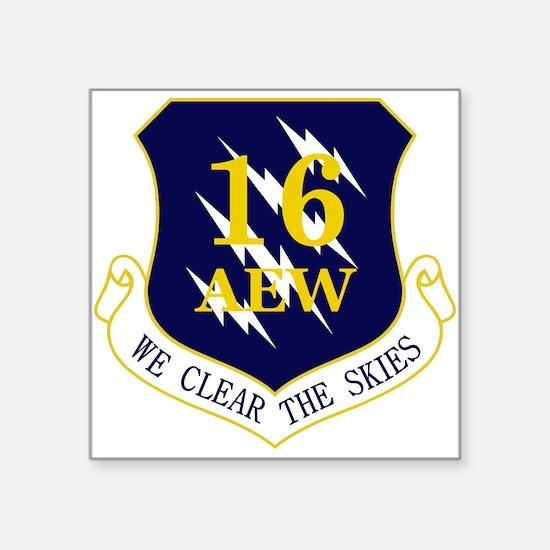 """16th AEW Square Sticker 3"""" x 3"""""""