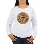 Celtic Reindeer Shield Women's Long Sleeve T-Shirt