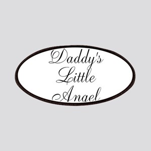 Daddys Little Angel Black Script Patches