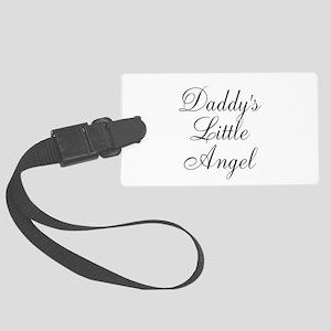 Daddys Little Angel Black Script Luggage Tag