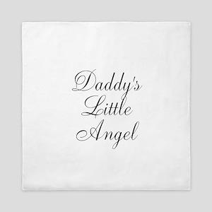 Daddys Little Angel Black Script Queen Duvet