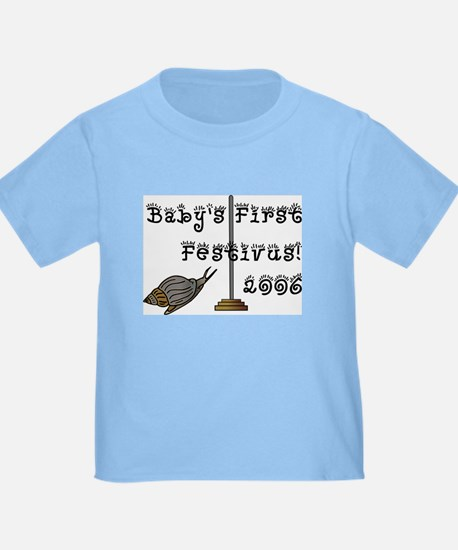 Baby's First FESTIVUS™ Tee in Blue, Pink, or White