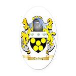 Carding Oval Car Magnet