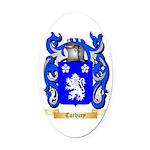 Carbury Oval Car Magnet