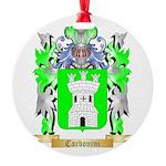 Carbonini Round Ornament