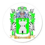 Carbonini Round Car Magnet