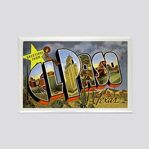El Paso Texas Greetings Rectangle Magnet