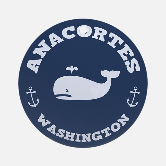 Anacortes Whaling Ornament (Round)