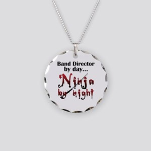 Band Director Ninja Necklace Circle Charm
