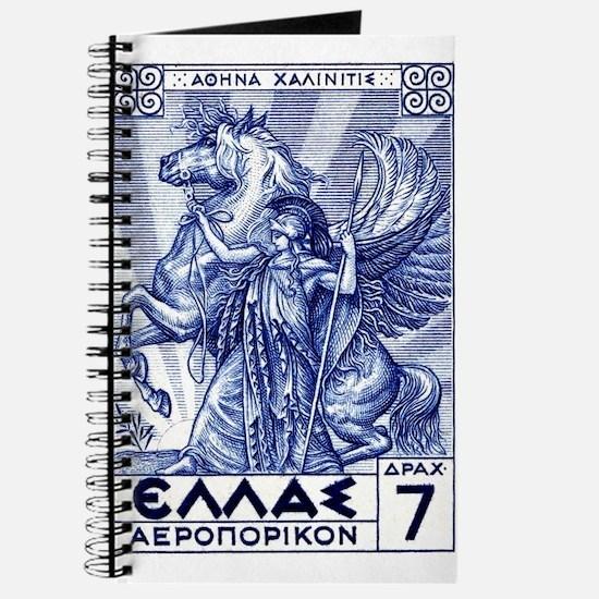 Antique 1935 Greece Pallas Athena Postage Stamp Jo