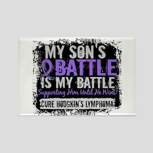 My Battle Too 2 H Lymphoma Rectangle Magnet