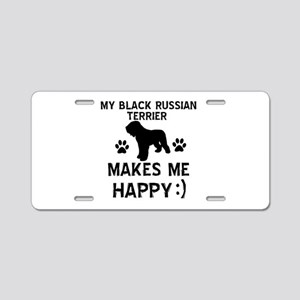 My Black Russian Terrier Makes Me Happy Aluminum L