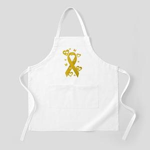 Yellow Awareness Ribbon Apron