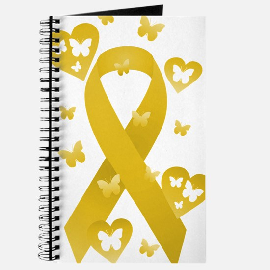 Yellow Awareness Ribbon Journal