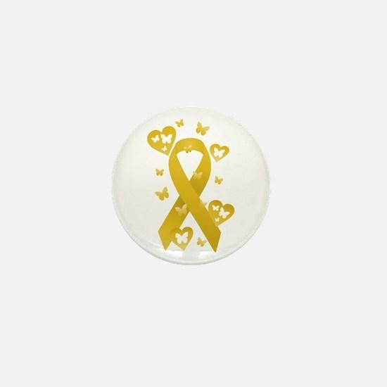 Yellow Awareness Ribbon Mini Button