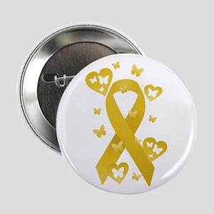 "Yellow Awareness Ribbon 2.25"" Button"