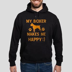 My Boxer Makes Me Happy Hoodie (dark)