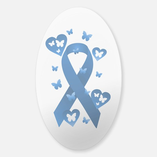 Blue Awareness Ribbon Sticker (Oval)