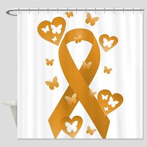 Orange Awareness Ribbon Shower Curtain