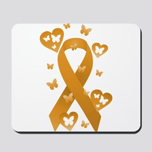 Orange Awareness Ribbon Mousepad