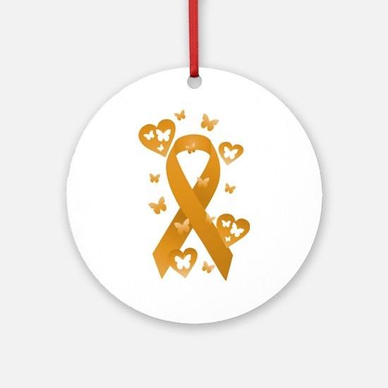 Orange Awareness Ribbon Ornament (Round)