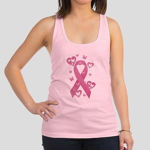 Pink Awareness Ribbon Racerback Tank Top