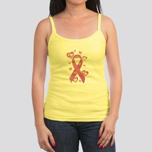 Pink Awareness Ribbon Jr. Spaghetti Tank