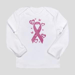Pink Awareness Ribbon Long Sleeve Infant T-Shirt