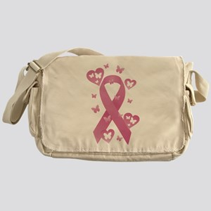 Pink Awareness Ribbon Messenger Bag