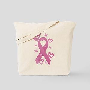 Pink Awareness Ribbon Tote Bag