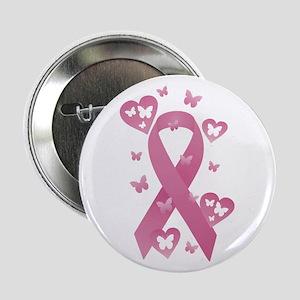 """Pink Awareness Ribbon 2.25"""" Button"""