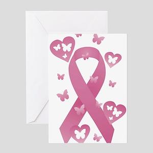 Pink Awareness Ribbon Greeting Card