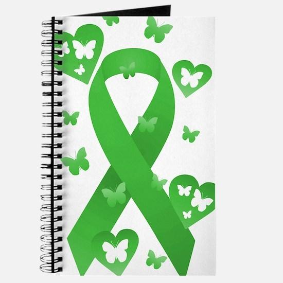 Green Awareness Ribbon Journal