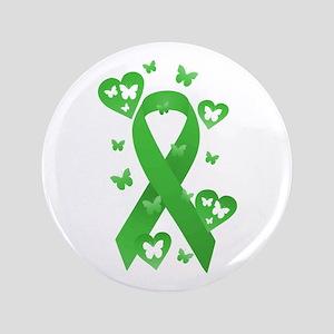 "Green Awareness Ribbon 3.5"" Button"