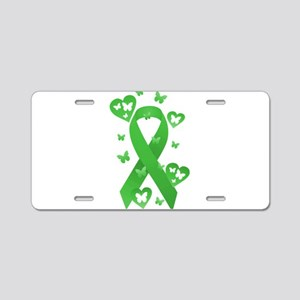 Green Awareness Ribbon Aluminum License Plate