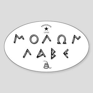 Molon Labe - Script Sticker
