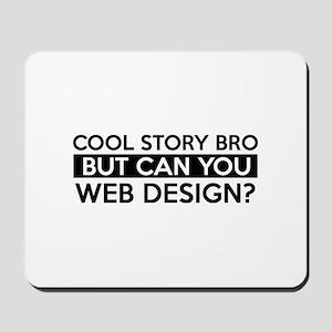 Web Design job gifts Mousepad