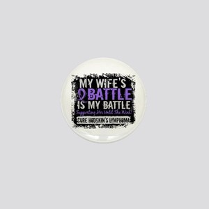 My Battle Too 2 H Lymphoma Mini Button