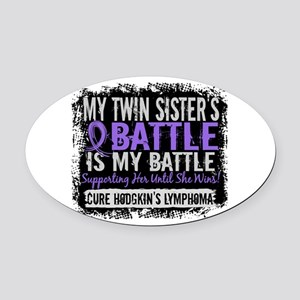 My Battle Too 2 H Lymphoma Oval Car Magnet