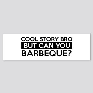Barbeque job gifts Sticker (Bumper)