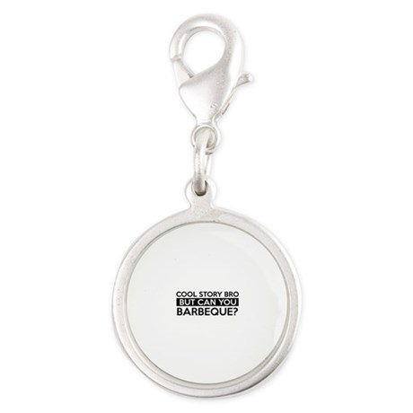 Barbeque job gifts Silver Round Charm