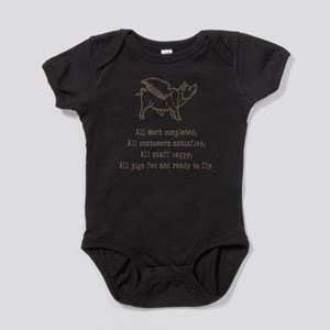 pigs ready to fly Baby Bodysuit