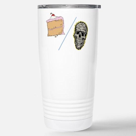 Cake or Death Stainless Steel Travel Mug