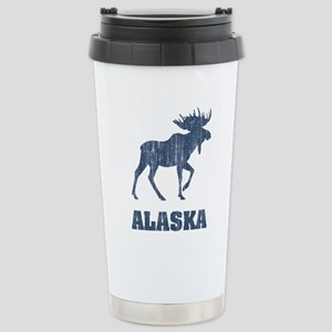 Retro Alaska Moose Stainless Steel Travel Mug